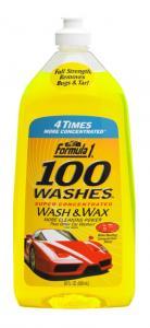 100 WASHES WASH & WAX Formula 1® Шампунь-концентрат + полироль, 828 мл