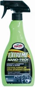Extreme Nano Tech Cockpit & Bumper Shine Очиститель-полироль для салона и бамперов, 500 мл